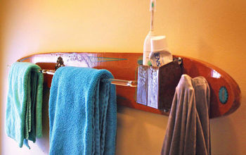 Repurposed / Upcycled Vintage Water Ski Towel & Robe Rack