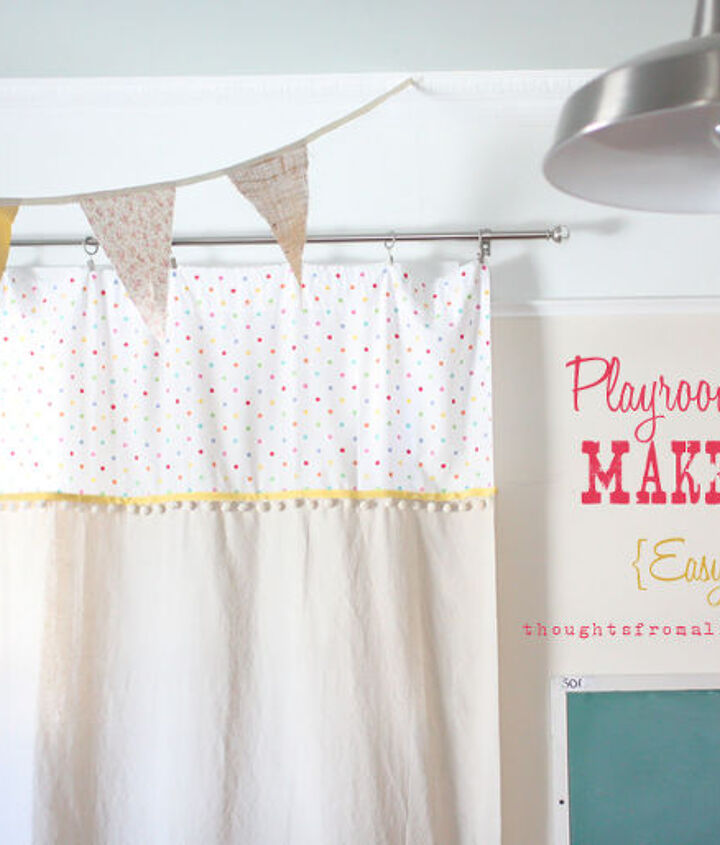 Playroom Curtain Make-Over