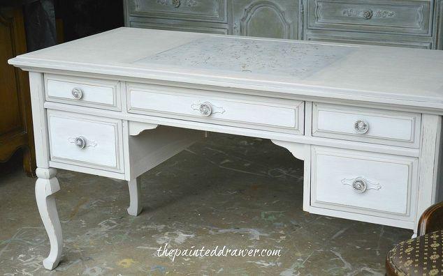 a vintage desk it takes a village, chalk paint, painted furniture - A Vintage Desk - It Takes A Village Hometalk