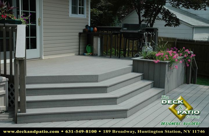 Trex deck and wrap around stairs