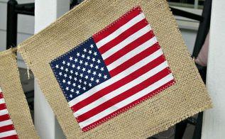 diy burlap flag banner, crafts, home decor, Flag Banner