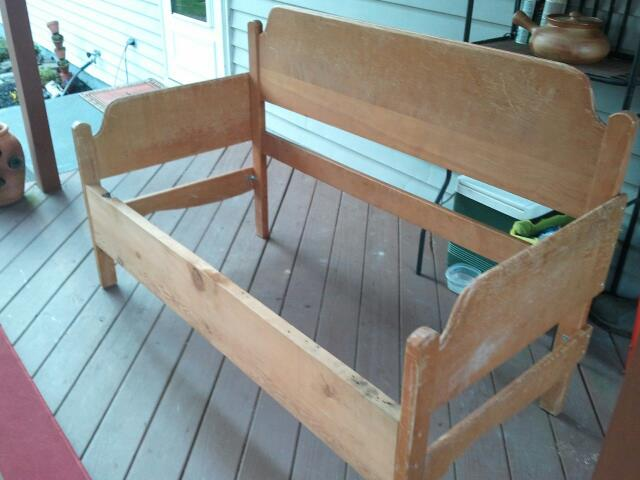 headboard bench, diy, outdoor furniture, outdoor living, painted furniture, repurposing upcycling, woodworking projects