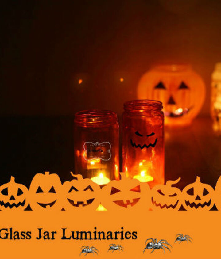 make reusable luminaries with glass jars, crafts, seasonal holiday decor