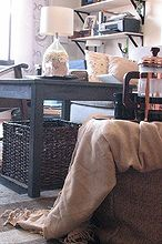 diy burlap pouf, crafts, repurposing upcycling