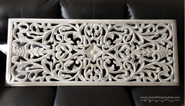 White Carved Wood Wall Panel Home Decor Repurposing Upcycling
