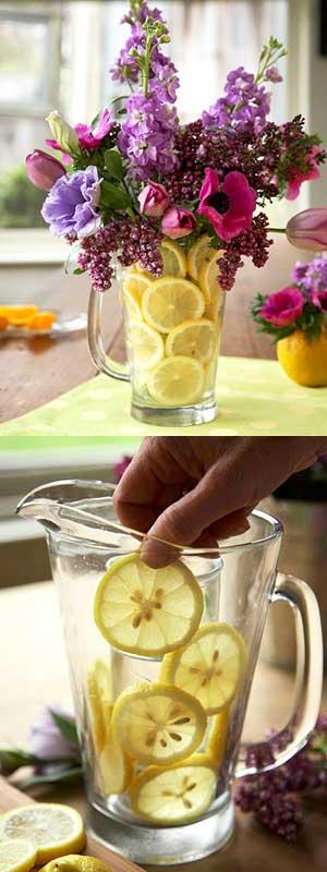 q do lemons make flower arrangements last, flowers, gardening