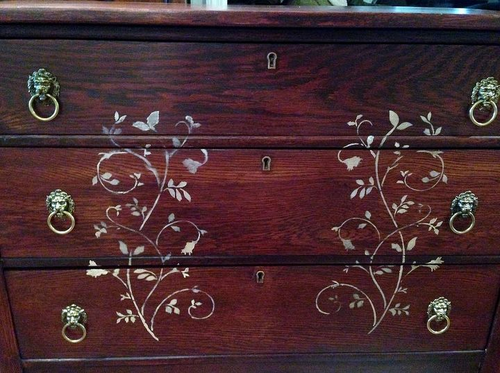 updated chest of drawers, painted furniture
