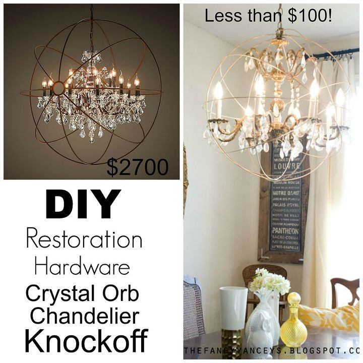 diy restoration hardware knock off orb chandelier, crafts, diy, home decor,  how - Diy Restoration Hardware Knock Off Orb Chandelier Hometalk
