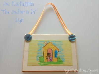 diy doc mcstuffins door sign, crafts, decoupage, doors