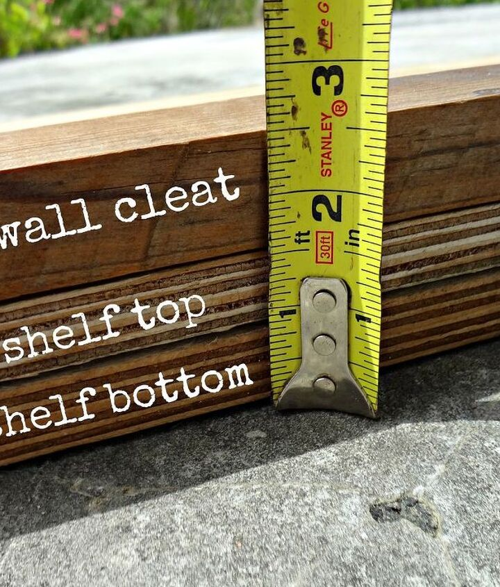 measuring the height of the shelf