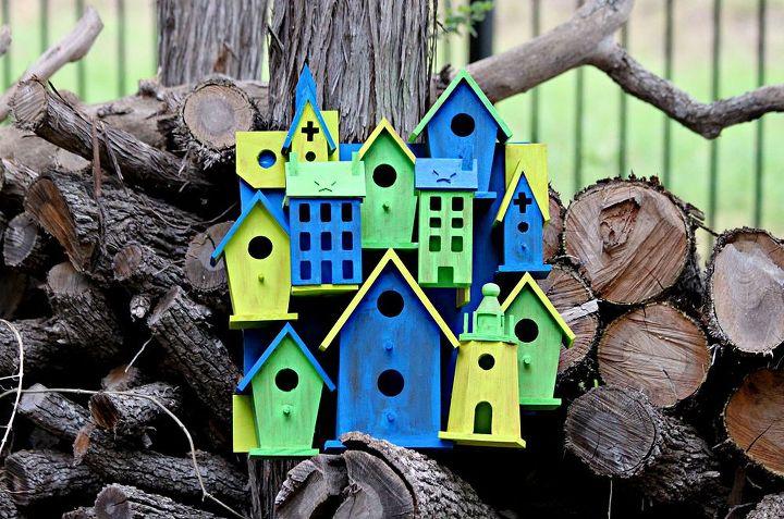 anthropologie inspired bird house art, crafts