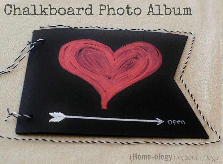 reusable chalkboard photo album, chalkboard paint, crafts