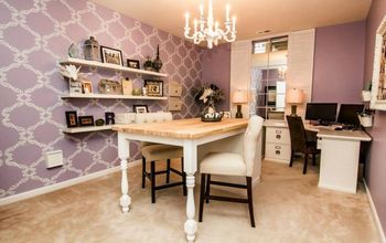 A Stenciled Color Obsession: Dusty Purple