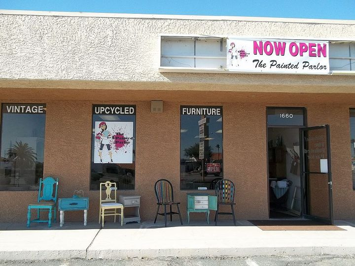 our shop at a glance, painted furniture