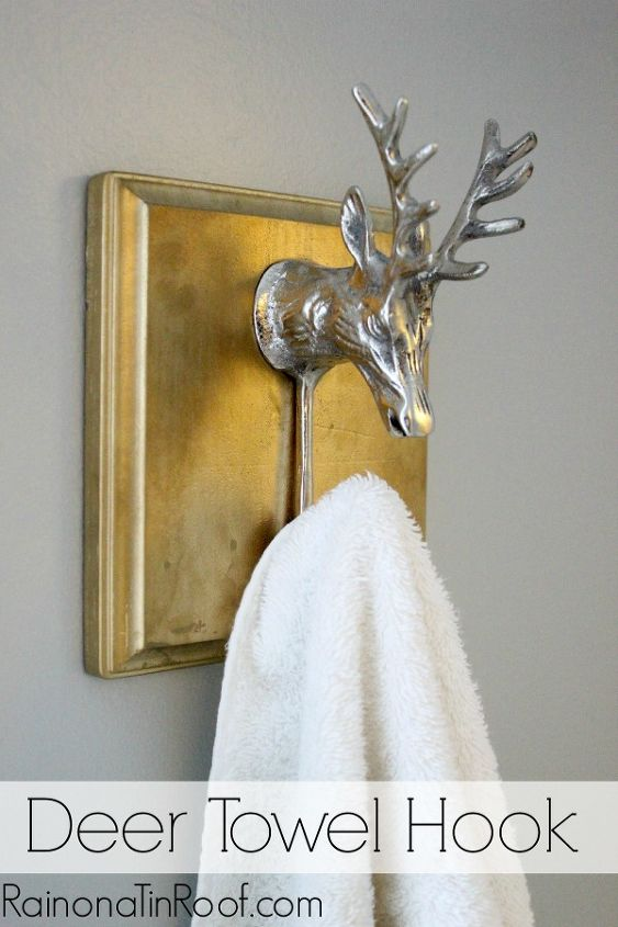 5 deer towel hook, bathroom ideas, home decor, Yep I combined silver and gold Not sure you are supposed to do that but I did Check your rulebooks first