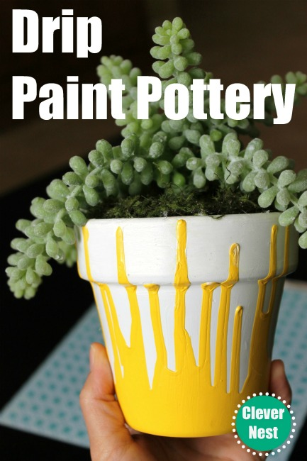Drip paint pottery