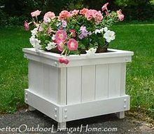 how to make a planter box cap cod style, gardening, patio, woodworking projects