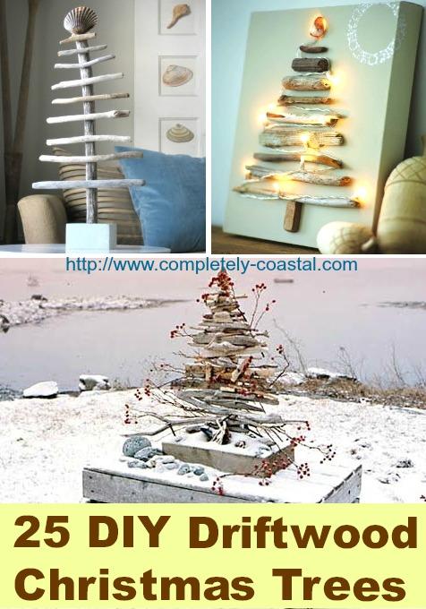 25 DIY driftwood Christmas trees.