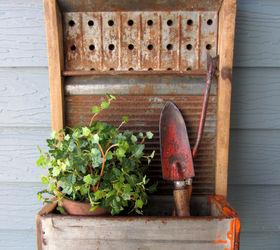 A Junk Garden Washboard Planter Box, Gardening, Outdoor Living, Repurposing  Upcycling