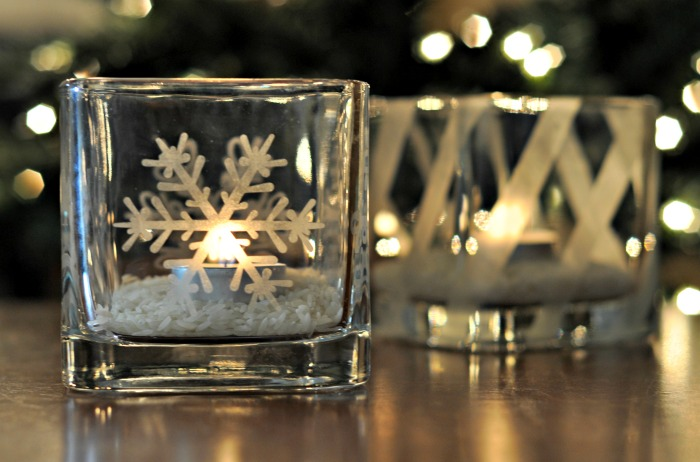 create your own etched glass candleholders it s easy christmas decorations crafts seasonal - How To Decorate Votive Candle Holders For Christmas