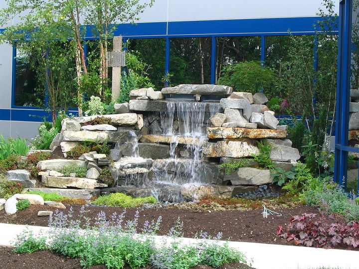 exciting corporate entrance in wallingford ct by tjb inc landscape contractor, landscape, outdoor living, ponds water features