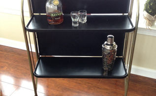 upcycle midcentury bar cart cheers to those that wish us well, painted furniture, repurposing upcycling, Midcentury Modern bar cart refreshed