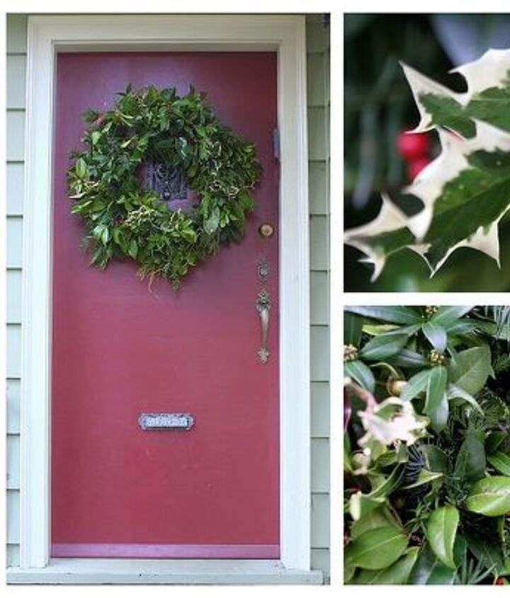 Another potpourri wreath with some beautiful variegated holly.