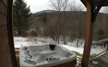 Bullfrog spa Installed On a Second-story Deck in Windham New York