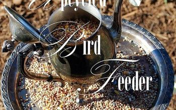 coffee tea or seed upcycled bird feeders, crafts, repurposing upcycling