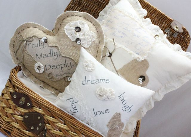 love letter pillows, crafts