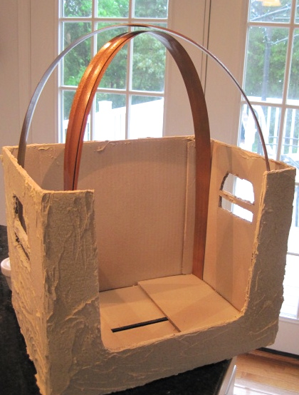 Pet Bed Created From Upcycled Cardboard Box Crafts Flexible Plastic Moulding Makes A Gazebo