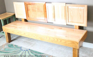 cabinet door bench, diy, how to, painted furniture, repurposing upcycling, woodworking projects, A bench pretty enough for any home and really not that hard to make