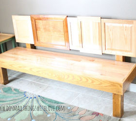 Cabinet Door Bench, Diy, How To, Painted Furniture, Repurposing Upcycling,  Woodworking