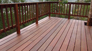 q has anyone used a product called decade 50year deck paint, decks, outdoor living, painting, My ipe deck at 12 its now 15
