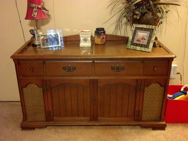 New Life for an Old Stereo Cabinet - New Life For An Old Stereo Cabinet Hometalk