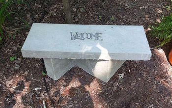 part 2 directions for concrete bench base, concrete masonry, diy, gardening, outdoor living
