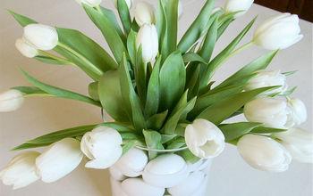 Spring Flower Arrangement with Tulips & Eggs