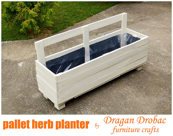 pallet herb planter by dragan drobac furniture crafts, diy, gardening, pallet projects, repurposing upcycling