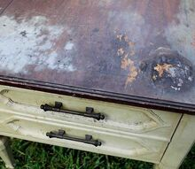bedside table redo how to remove smells from furniture, cleaning tips, painted furniture