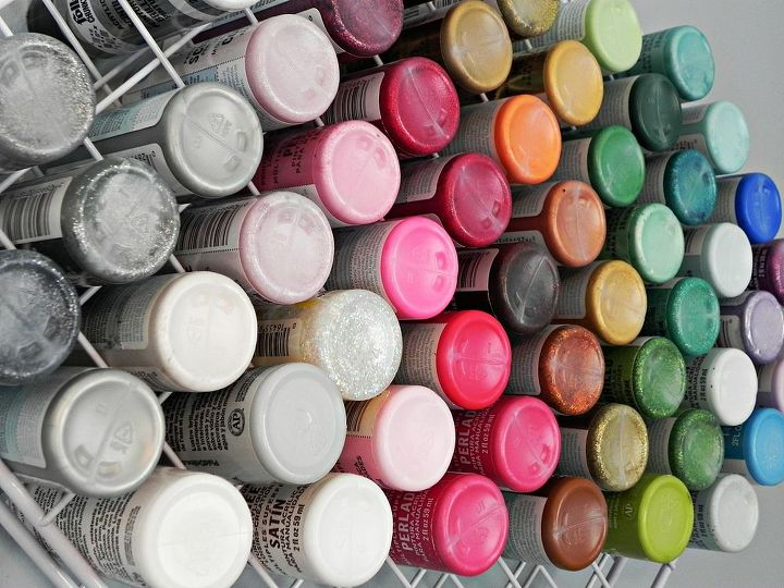 See all your craft paints in a glance!