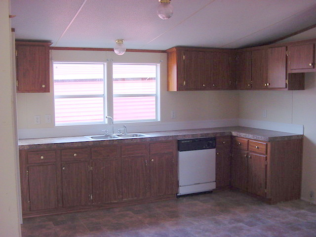 kitchen makeover, home decor, kitchen design, The Before bland unattractive typical mobile home kitchen