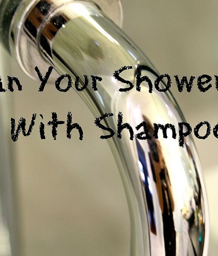 Shampoo is made to cut grease and dirt from your hair.  It does the same for a shower door.  You don't need any fancy glass cleaners.  This will work better than anything.