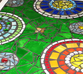 Stained Glass Mosaic Patio Table, Painted Furniture, Tiling, After  Finishing The Weldbond Glue