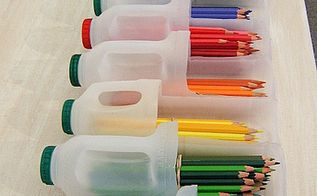 how to use garbage as a tool for your kids, crafts, repurposing upcycling, Use old empty bottles as a box for crayons