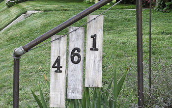 House Numbers for Ugly Railing!