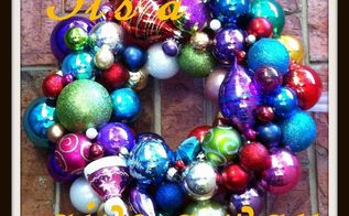 christmas ornament wreath s, christmas decorations, seasonal holiday decor, wreaths, Ornament Wreath It s a give a way