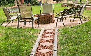 check out this fire pit made with free brick and an old chimenea, concrete masonry, decks, diy, outdoor living, patio