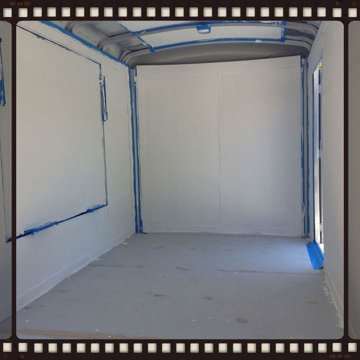 creating a mobile boutique out of a 6x10 cargo trailer, diy, flooring, how to, tile flooring