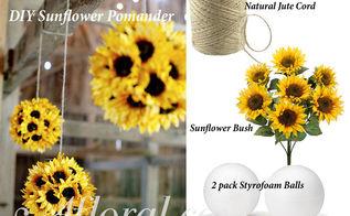 diy sunflower pomander, container gardening, crafts, flowers, gardening