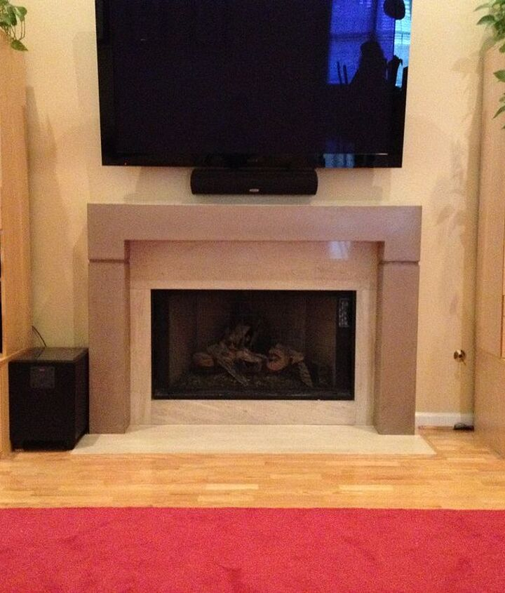 Concrete fireplace mantel & surround by Burco